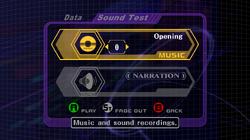 SSBM Sound Test Menu