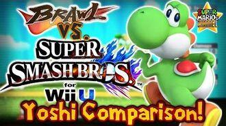 SMC Brawl vs. Smash Bros. Wii U - Yoshi Moveset & Model Comparison!