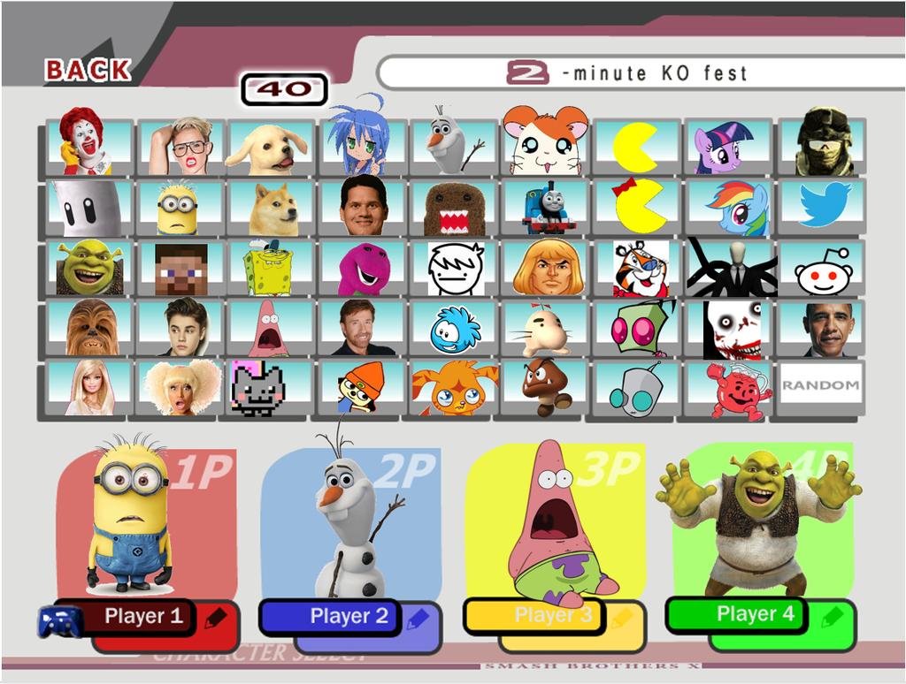 image super smash bros 4 character roster leak by twistedleaf26
