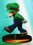 Luigi smash trophy (SSBM)
