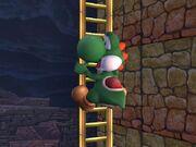 Yoshi on ladder