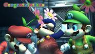 Mario Congratulations Screen All-Star Brawl
