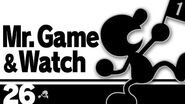 26 Mr. Game & Watch – Super Smash Bros