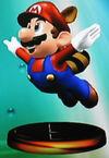 Raccoon Mario trophy (SSBM)