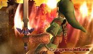 ZeldaSheik Congratulations Screen Classic Mode Brawl