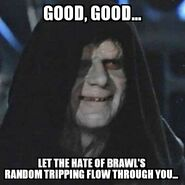Sith Lord prat falling