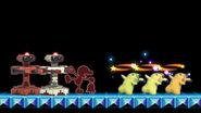 Three Pikachus - Swirly Eyes & Stunned in Super Smash Bros Ultimate