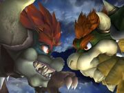 Giga Bowser and Bowser