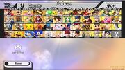 SSB WIIU starting roster