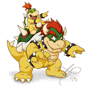 Bowser and jr by rainmaker113-d6vo5cq