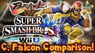SMC Brawl vs. Smash Bros. Wii U - Captain Falcon Moveset & Model Comparison!