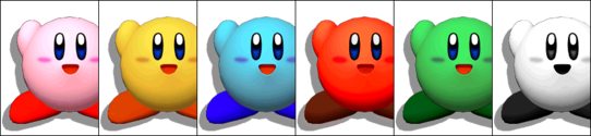 KirbyColorsMelee