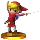 SSB3DS Toon Link Trophy2