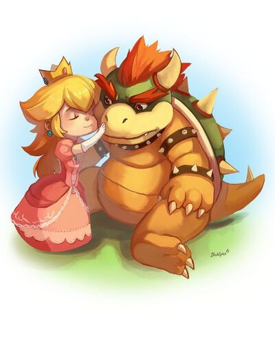 Peach and bowser