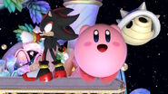Kirby taunting with Shadow