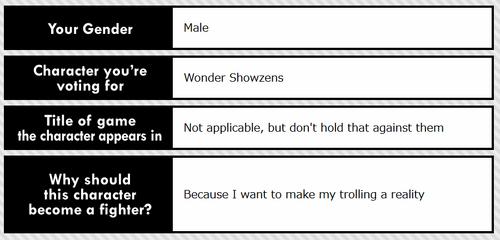 Wonder Showzens Ballot