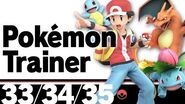 33-35 Pokémon Trainer – Super Smash Bros