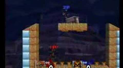 Ganondorf Captain F vB on Spring Super Jump (Strange Outcome, glitch ?)