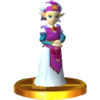SSB3DS Young Zelda Trophy