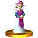 SSB3DS Young Zelda Trophy