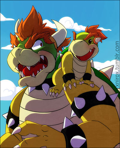 Adorable bowser andBJ