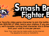 Smash Bros. Fighter Ballot