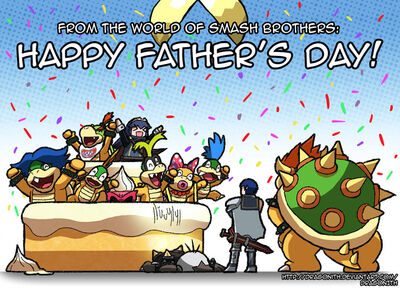 A smashing father's day