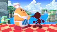 Red Game & Watch and Chef Kawasaki in Super Smash Bros Ultimate
