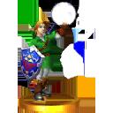 SSB3DS Link (Ocarina of Time) Trophy