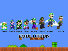 Evolution of Luigi sprites