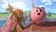 Kirby taunting with Knuckles
