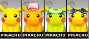 SSB4-Pikachu Palettes 001