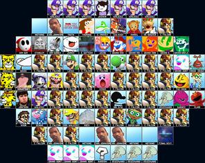 Super Smash Bros. Melee roster (Better version)