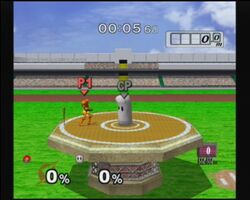 Sand in homerun contest melee