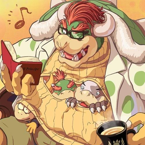 Bowser-reading-story