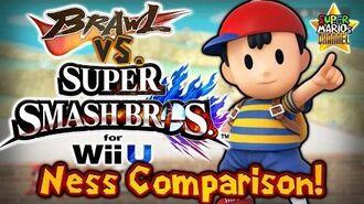 SMC Brawl vs. Smash Bros. Wii U - Ness Moveset & Model Comparison!