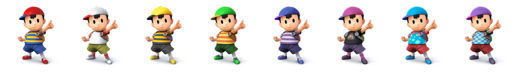 Ness SSB4 Costumes