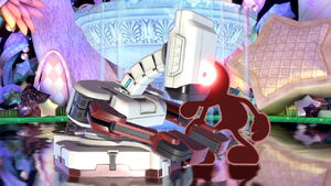 Red Game & Watch and Red R.O.B. (Robotic Operating Buddy) Sleeping in Super Smash Bros. Ultimate