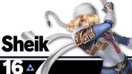 16 Sheik – Super Smash Bros