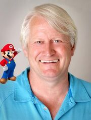 Charles Martinet with Mario