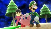 Me Kirby and Luigi