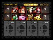 SSB 64 starting roster