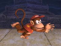 Agarre corriendo Diddy Kong SSBB