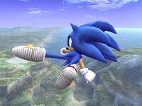 Ataque aéreo trasero Sonic SSBB
