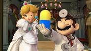 Créditos Modo Senda del guerrero Dr. Mario SSB4 (Wii U)
