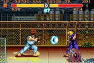 Ryu usando Hadouken contra Ken en Street Fighter II