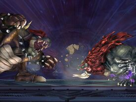 Bestia Ganon vs Giga Bowser