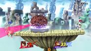 Cerebro Madre atacando a Donkey Kong SSB4 (Wii U)