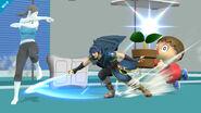 La entrenadora de Wii Fit, Marth y el Aldeano - (SSB. for Wii U)