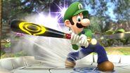 Luigi utilizando el Bate de Beisbol SSB4 (Wii U)